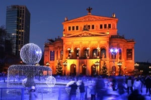 Alte Oper in Frankfurt im Winter 2008